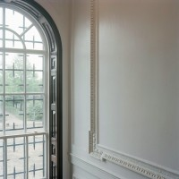 View of window overlooking park