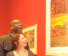 Couple viewing Brangwyn picture