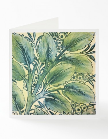 Bay and Willow Pattern Square Greetings Card