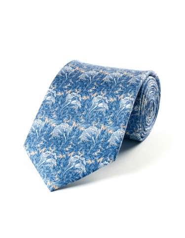 Tulips Pattern Tie (blue)