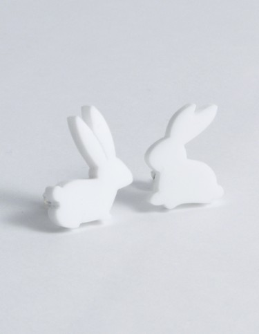 I Am Acrylic - Bunny Stud Earrings