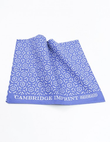 Cambridge Imprint Pear Halves Violet Tea Towel
