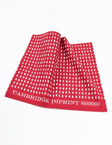 Cambridge Imprint Bean Red Tea Towel