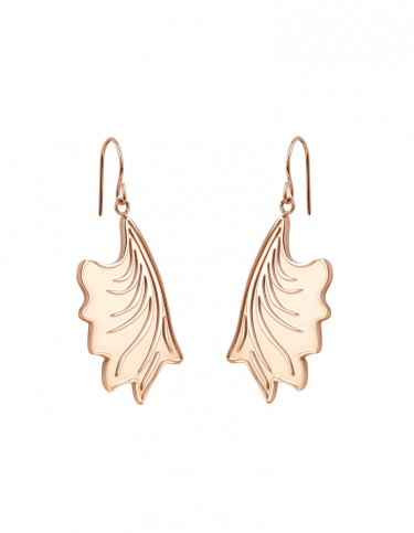 Esa Evans Drop Leaf Earrings - Rose Gold Finish