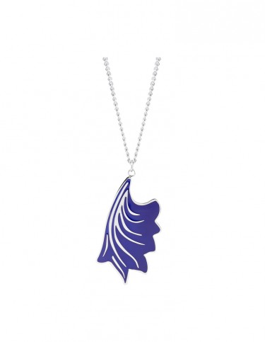 Esa Evans Drop Leaf Pendant - Blue Enamel Finish