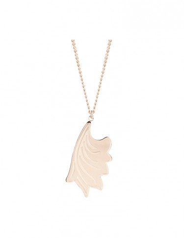 Esa Evans Drop Leaf Pendant - Rose Gold Finish