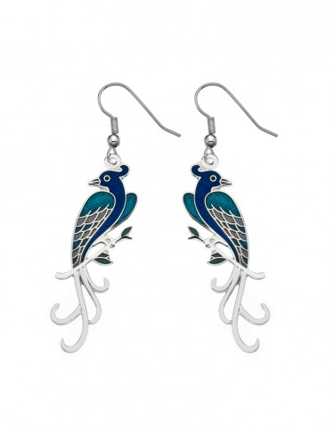 Celtic Lands - Enamel Birds of Paradise Earrings