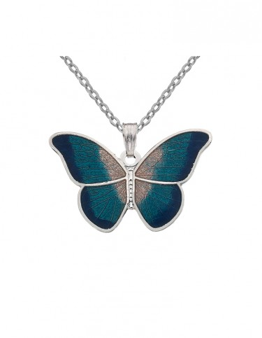 Celtic Lands - Enamel Butterfly Necklace (turquoise)