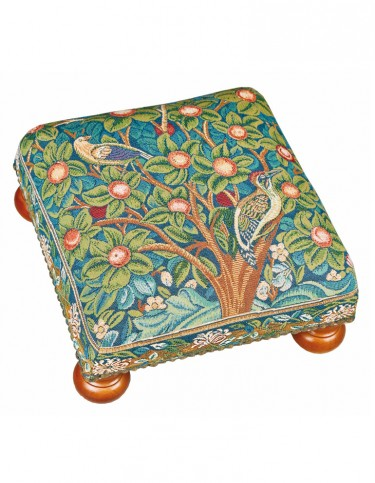 Woodpecker Tapestry Footstool