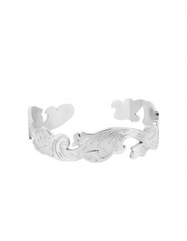Foliage Cuff Bangle by Esa Evans - Silver Finish