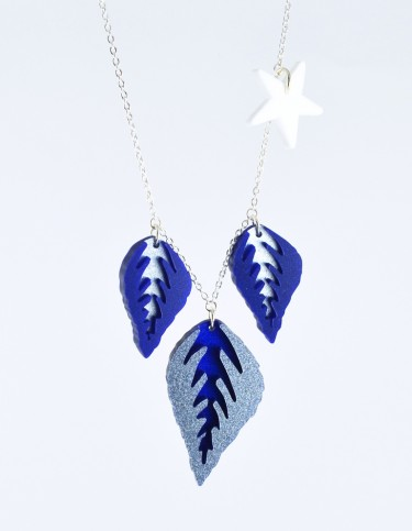 I Am Acrylic - Leaves and Star Necklace