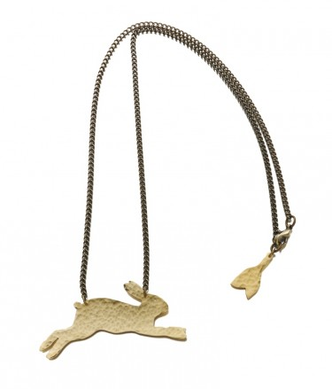 Just Trade hare necklace