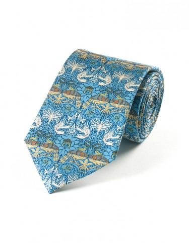 Peacock and Dragon Pattern Tie