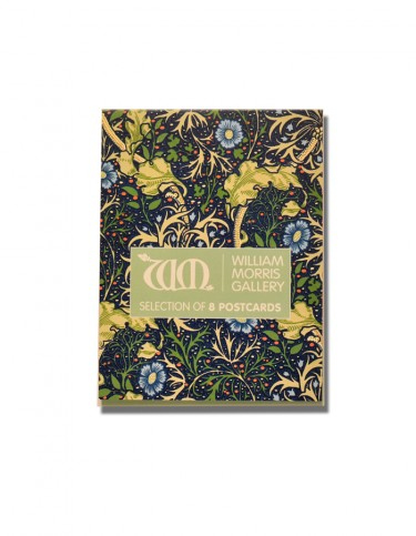 Pack of postcards, cover decorated with William Morris's Seaweed design