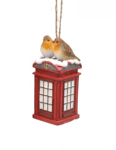 Phonebox Robins Decoration