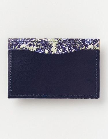Seaweed Double-sided Leather Card Holder