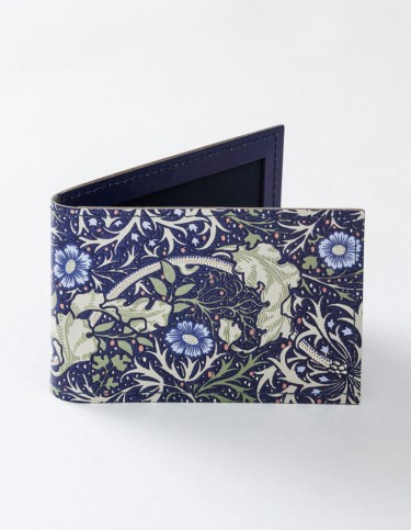 Seaweed leather travel card holder