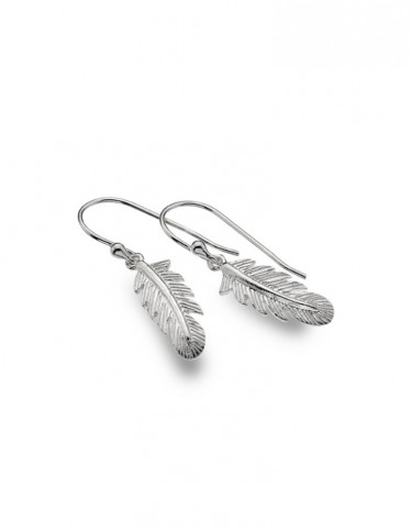 Sea Gems - Floating Feather Drop Earrings