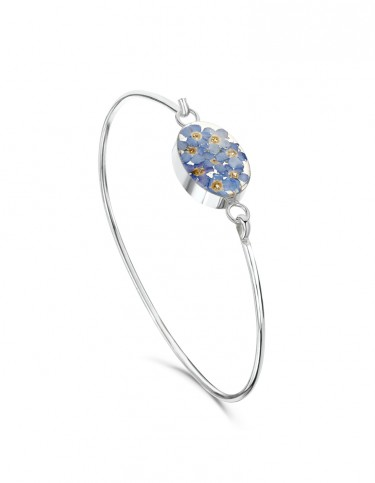 Forget-Me-Not Oval Bangle