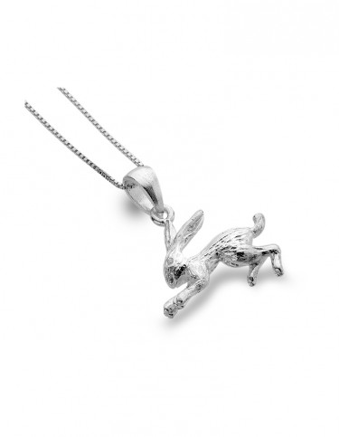 Silver Origins - Textured Hare Necklace