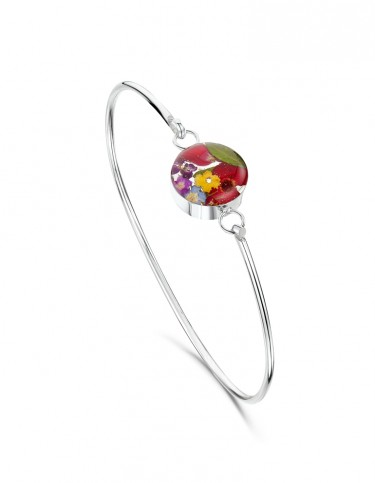 Mixed Flower Round Bangle
