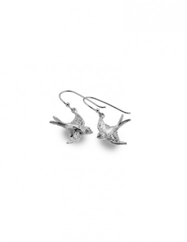 Sea Gems - Flying Swallow Drop Earrings
