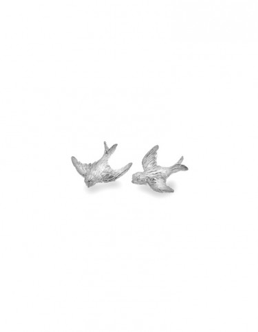 Sea Gems - Flying Swallow Stud Earrings