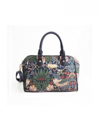 Strawberry Thief Bowler Bag (blue)