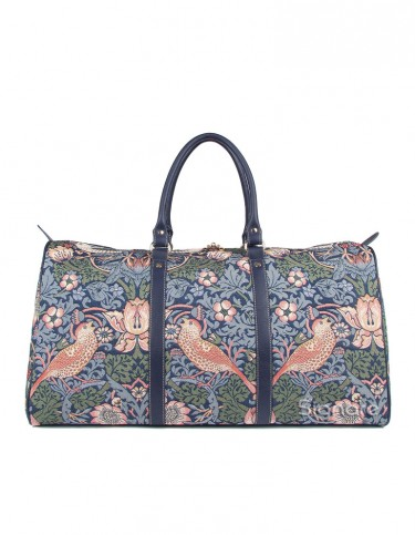 Strawberry Thief Holdall Bag (blue)