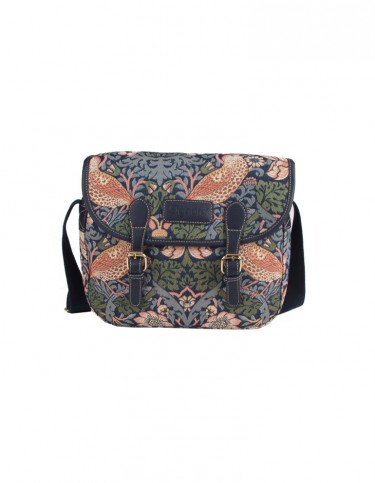 Strawberry Thief Messenger Bag (blue)