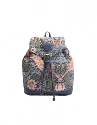 Strawberry Thief Rucksack (blue)