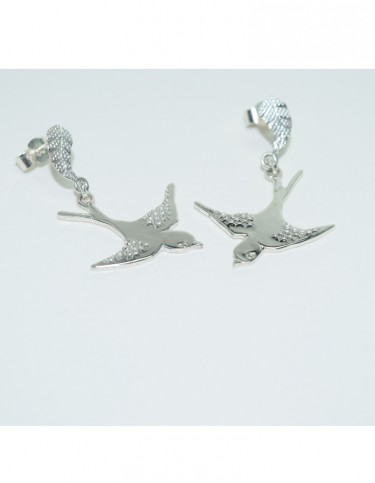 Trung Le Swallow Charm Drop Earrings