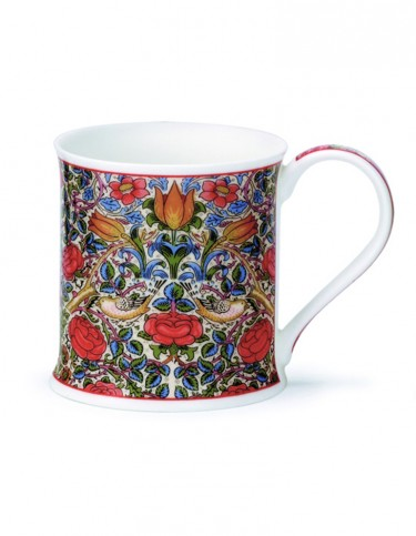 Bone china mug with Rose pattern