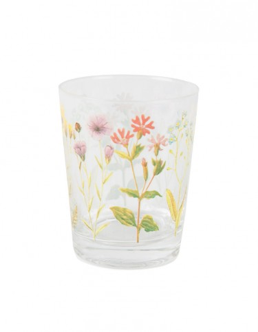 Wildflower Glass Tumbler
