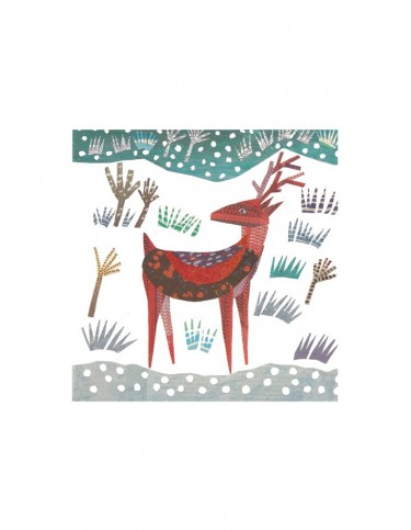 Winter Deer Set of 8 Cards