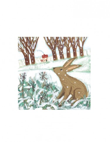 Winter Hare Set of 8 Cards