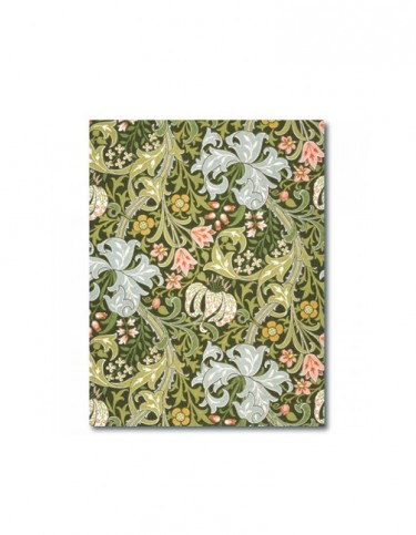 Notebook decorated with William Morris's Golden Lily design