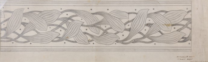 A129 Design for a border pattern of leaves