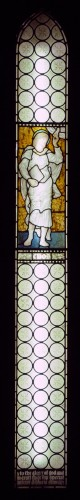 Stained glass window of Enoch