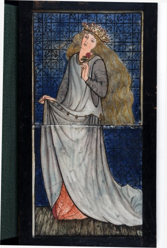 Two tile panel showing a standing Cinderella
