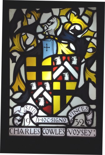 Stained glass panel of an armorial