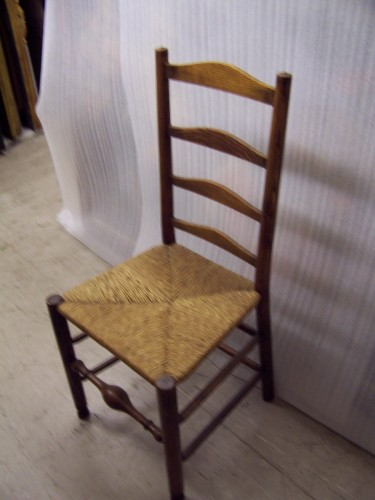 G70 Ladder-back chair with rush seat