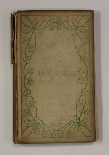book with clover leaf decoration on cover