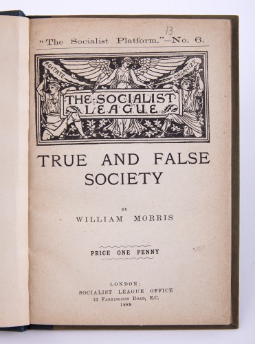 Bound pamphlet True and False Society