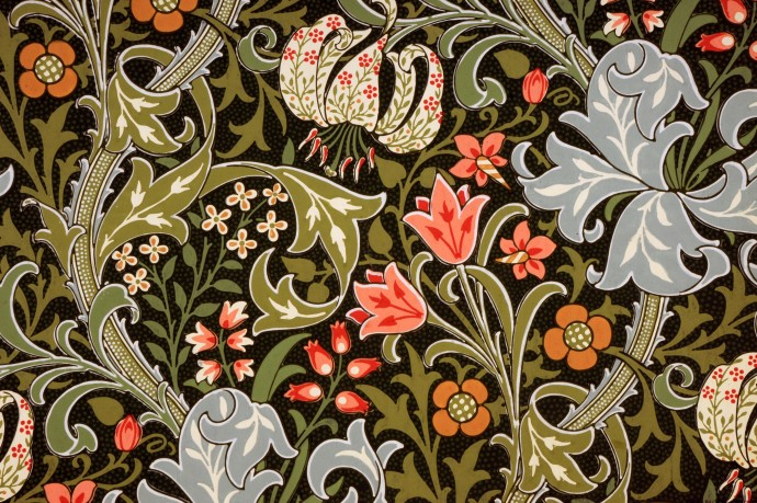 Golden Lily In Wallpaper Pattern Book C William Morris Gallery