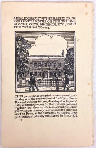 K241 A Bibliography of Essex House Press