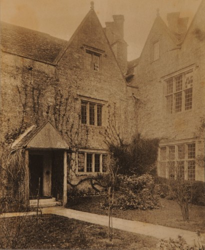 Platinum print of a view of the front exterior of Kelmscott Manor