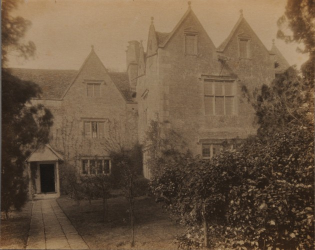 Platinum print of the front exterior of Kelmscott Manor