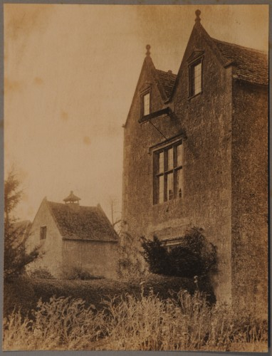 Platinum print of Kelmscott Manor from the side
