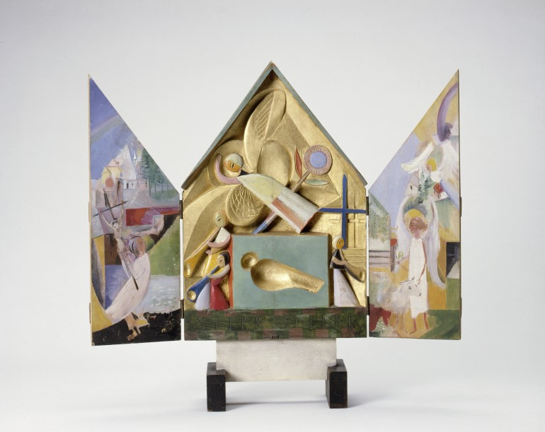 Gerhard Marck,s Small altarpiece, 1920, Courtesy of Gerhard Marcks Haus, Bremen